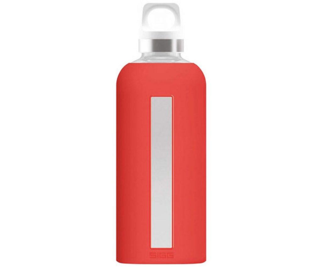 Bouteille d'eau en verre Sigg Rouge