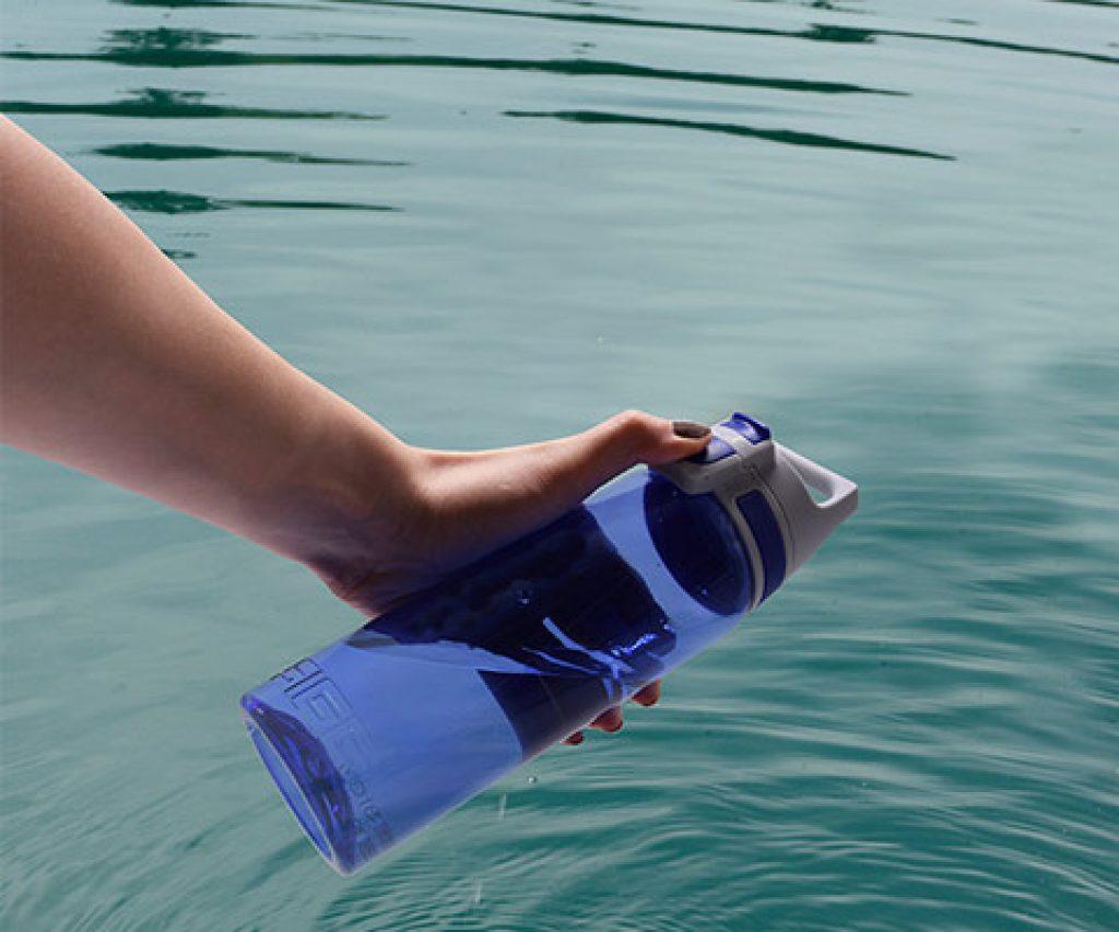 Bouteille en plastique réutilisable SIGG Viva Bleu