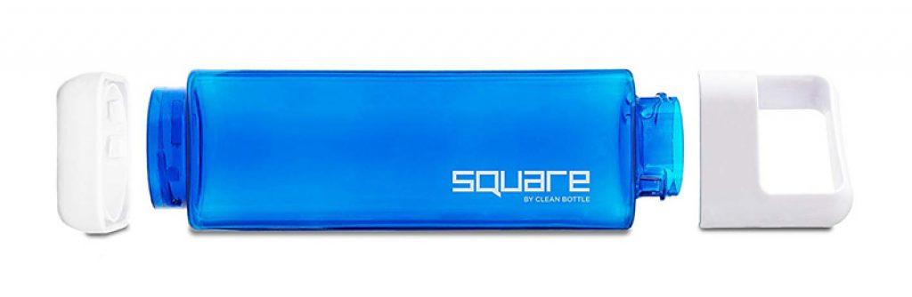 Bouteille d'eau Square en plastique Tritan