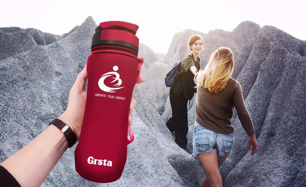 Bouteille d'eau réutilisable Grsta rouge