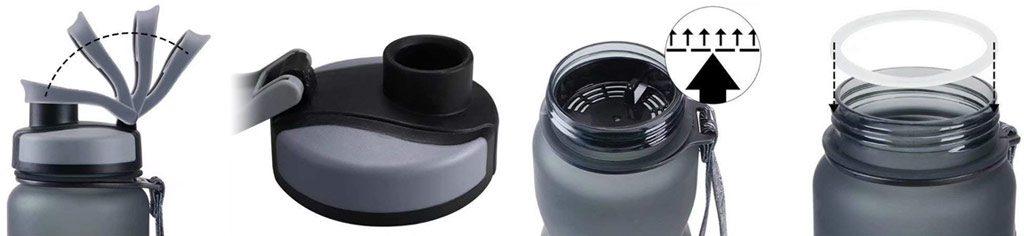 Bouteille d'eau réutilisable Grsta grise